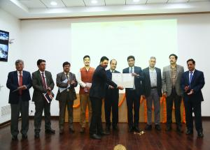 Managing Director's awardee received certificate at NHSRCL's Fourth Foundation Day on 12.02.2020