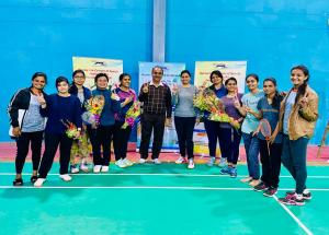 Glimpses of Sports day event at NHSRCL January 2020 (Badminton)