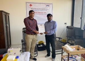 Glimpses of Blood donation camp at NHSRCL's Ahmedabad office on the occasion of 4th Foundation Day on 12.02.2020