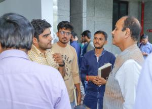 MD NHSRCL interacting with young engineers at IIT Gandhinagar