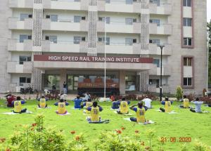 Yoga day celebrations at NHSRCL site offices