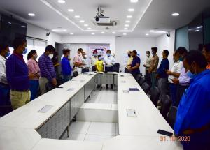 National Unity Day 2020 pledge taken by all NHSRCL officials at Corporate & project offices