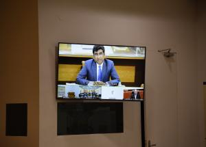 Shri V. K. Yadav (CEO & Chairman, Railway Board) speaking at C-4 contract agreement signing ceremony through video conference on 26 Nov 2020
