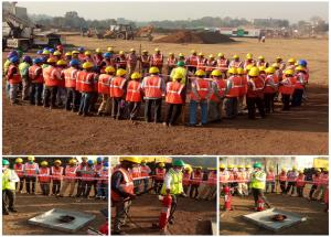 A glimpse from our construction site at Valsad, Gujarat, where Fire Extinguisher training for the construction workers was conducted On 03 Feb 2021.