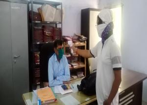 Thermal screening at one of the offices in Vadodara district